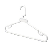 White Spectrum 42 Coat Hangers