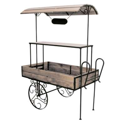 Heritage Rustic Wooden Retail & Cart Shelves